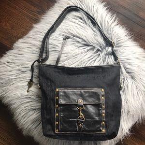 FOSSIL black hobo bag